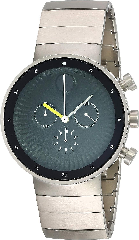 Movado Edge 3680009 - Reloj cronógrafo de Cuarzo Suizo para Hombre, Esfera de Aluminio, Color Negro