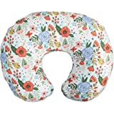 Boppy Nursing Pillow Cover—Premium | Mint Floral | Soft, Quick-Dry Microfiber Fabric| Fits Boppy Bare Naked, Original and Lux