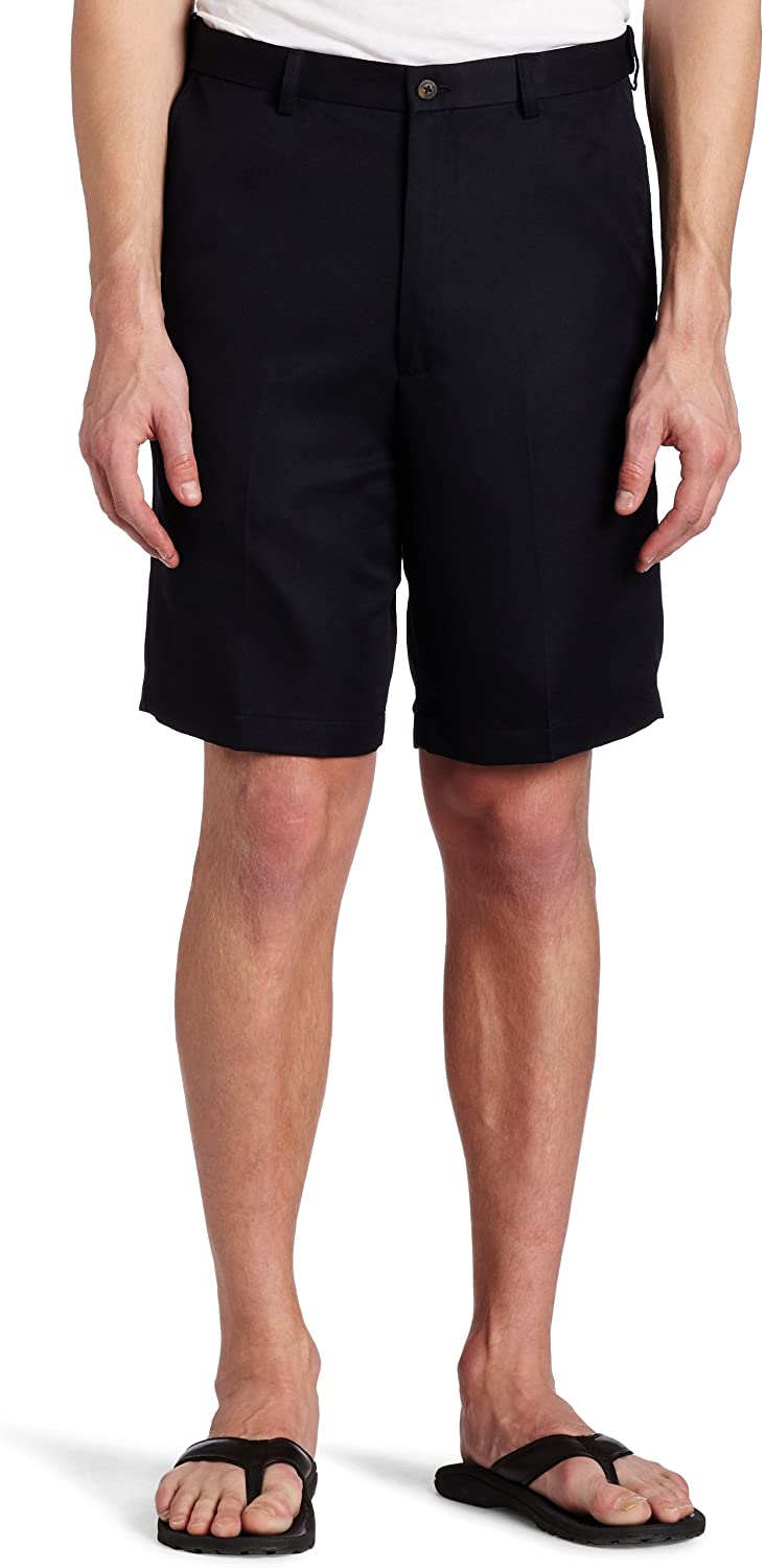 Haggar Men's Cool 18 Classic Attention brand Short Fit Expandable Max 68% OFF Waist