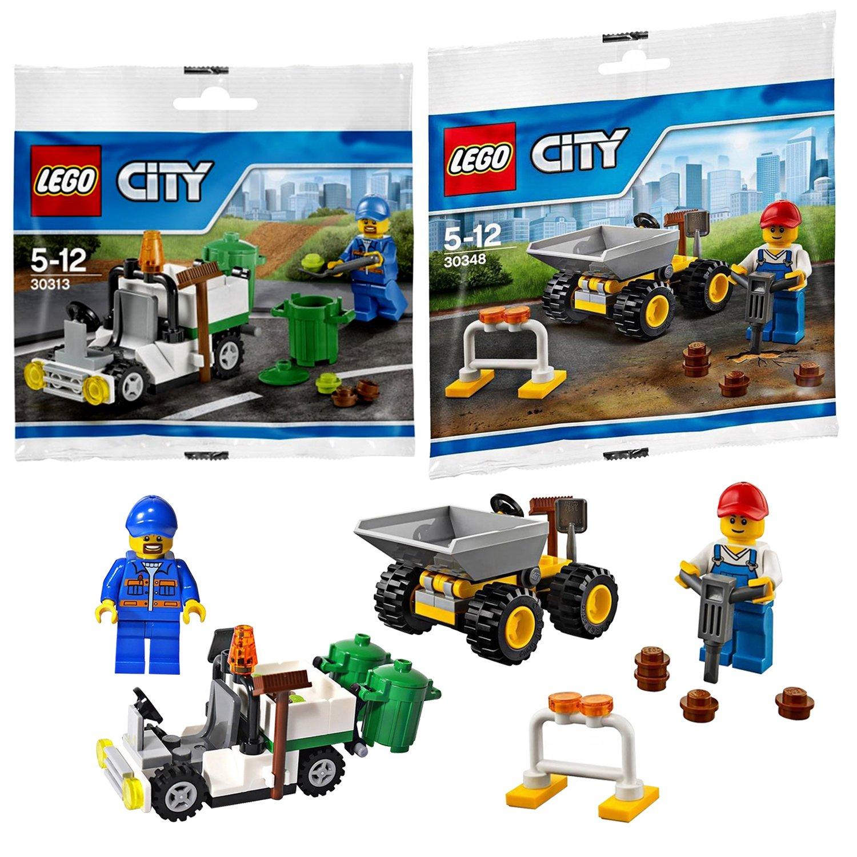 Amazon Lego City 2 Set Bundle Garbage Truck 30313