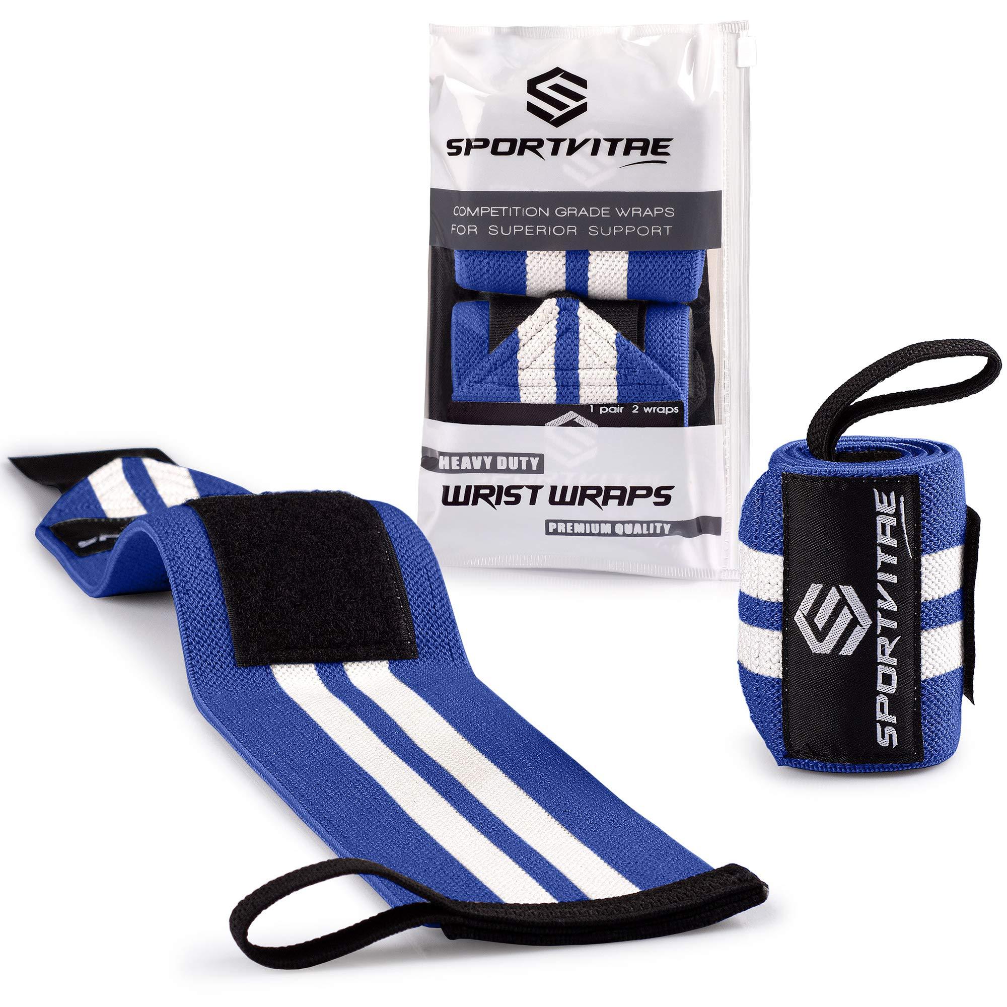 Sportvitae® - Muñequeras Deportivas Crossfit 1 Par 45cm Ideales para Calistenia Halterofilia Weightlifting Deadlift -