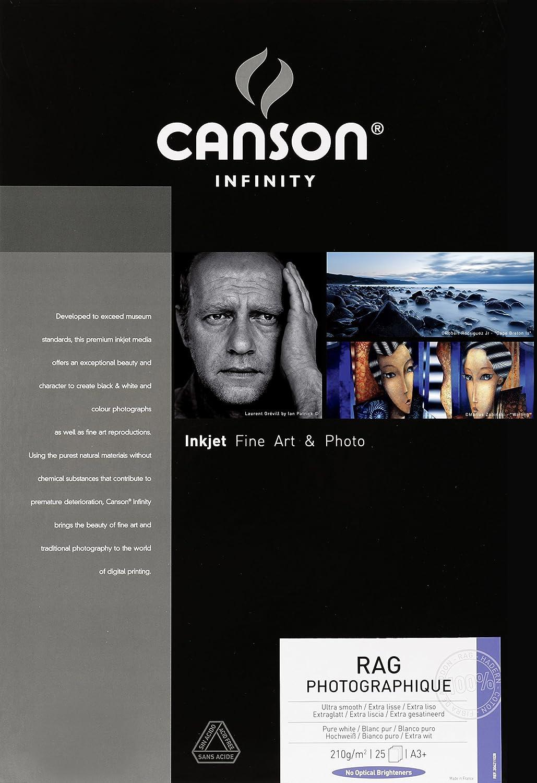 Canson Infinity Rag Photographique 310 A3+ Bianco carta fotografica 206211048