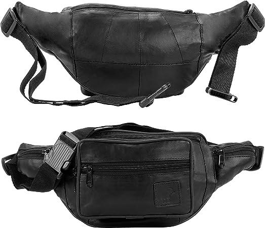 Leder Waist Bag Gürteltasche Hüfttasche Bauchtasche Handmade 2 Reissverschlüße