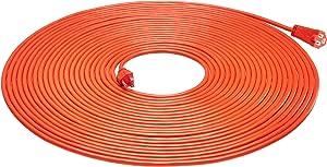 AmazonBasics 16/3 Vinyl Outdoor Extension Cord, Orange, 75 Foot