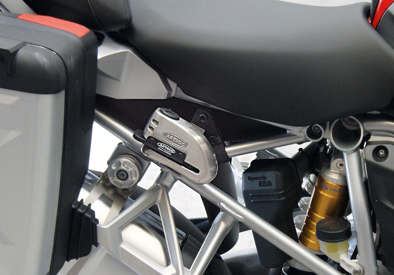 homologado Sra Warning 120 db Alta Gama Artago 32 Candado antirrobo Moto Disco Alarma /ø15 Cierre s.a.a Acero Inoxidable