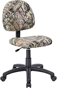 Boss Office Products Mossy Oak Break-Up Country Deluxe Posture Chair, Camo
