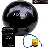 Platinum Health 2000lbs Static Strength Exercise Yoga Fitness Stability Ball with Foot Pump