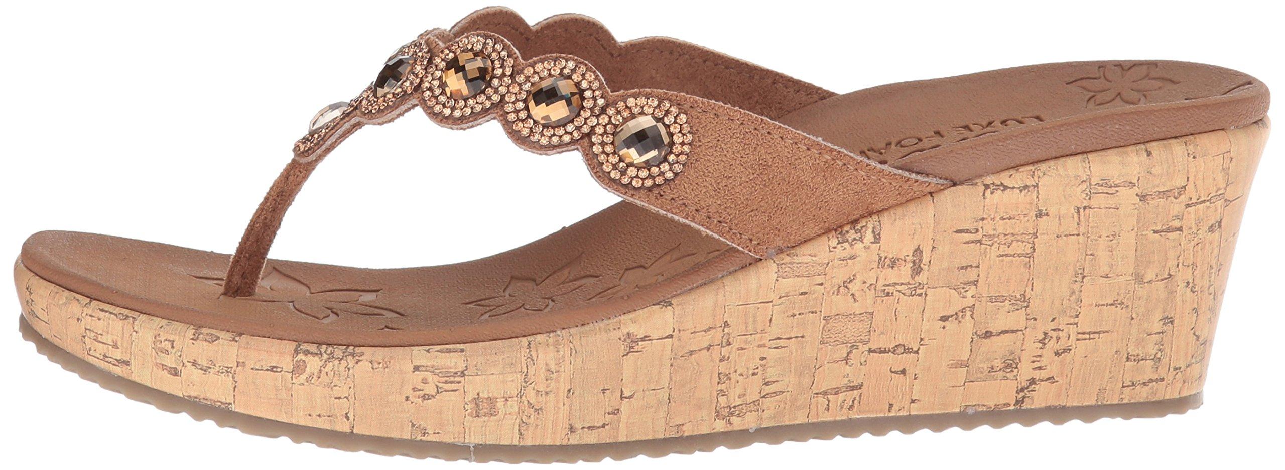 8777f770601 Skechers Cali Women s Beverlee-Bizzy Babe Wedge Sandal