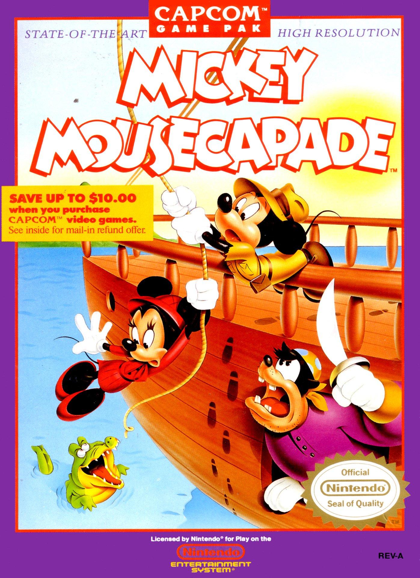 Amazon.com: Mickey Mousecapade: NES NINTENDO AND CAPCOM ...