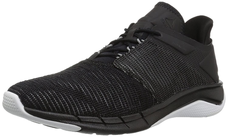 Reebok Women's Fast Flexweave Running Shoe B0742NT6QJ 7.5 B(M) US|Black/Coal/Flint Grey/White