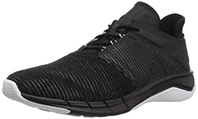 16abfb9582f3 Reebok Women s Fast Flexweave Running Shoe Black Coal Flint Grey White 5 M