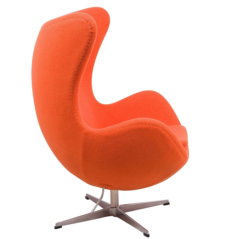 Amazon LeisureMod Arne Jacobsen Egg Chair in Orange Wool