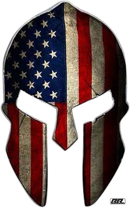 Jeep Gladiator Double Sided Metal Keychain American Flag Spartan Helmet