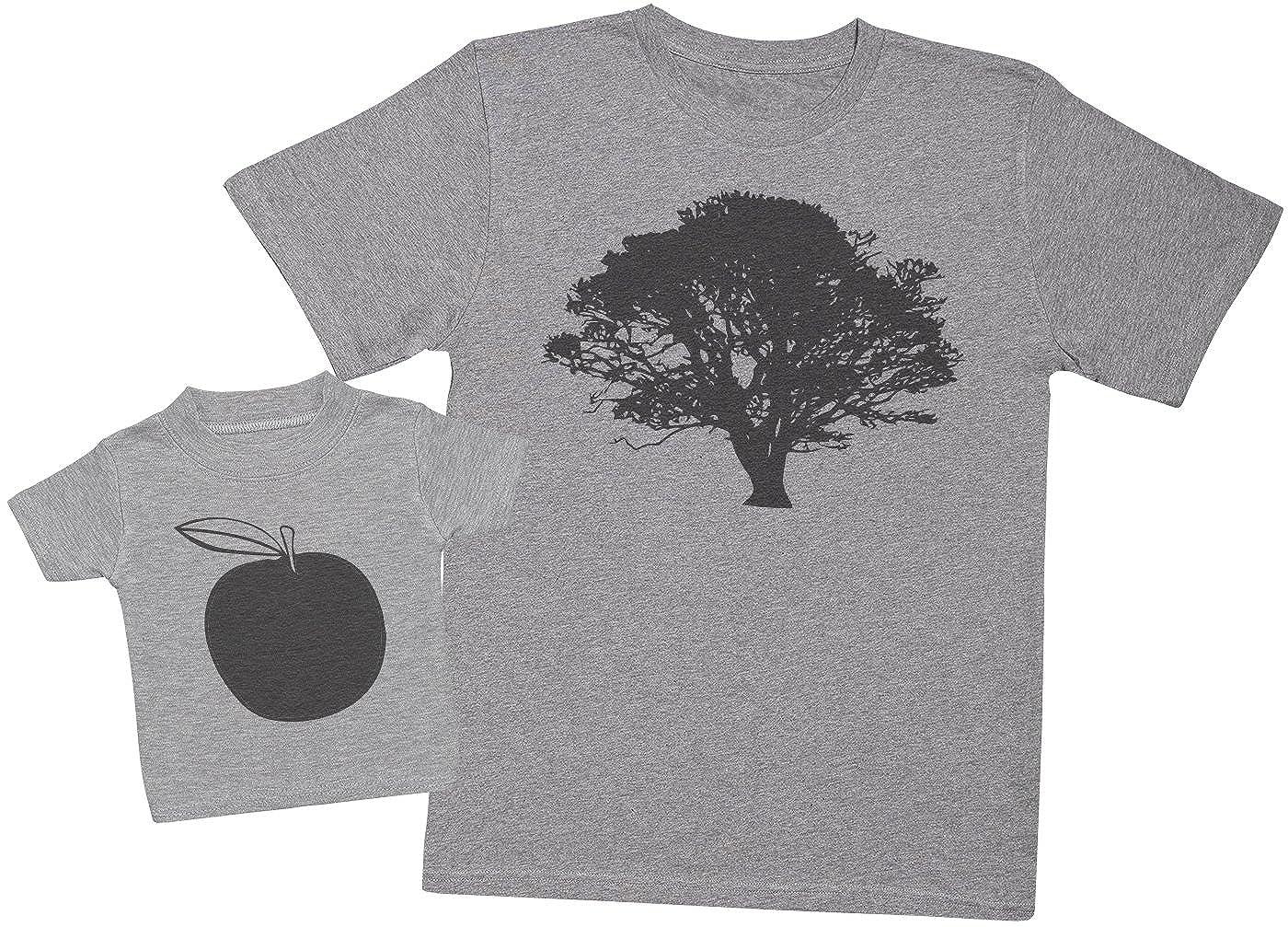 Ensemble P/ère B/éb/é Cadeau Zarlivia Clothing Tree and Apple Hommes T-Shirt /& T-Shirt b/éb/é