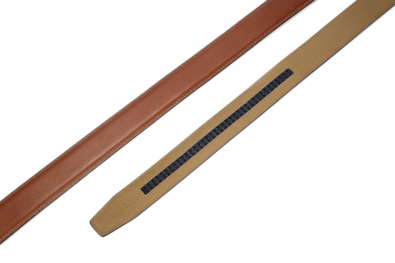 "CHAOREN Ratchet Belt Replacement Strap 1 3//8/"" Leather Belt Strap for 40MM Slide Click Buckle"