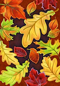 Toland Home Garden Leafy Leaves 12.5 x 18 Inch Decorative Fall Autumn Tree Leaf Collage Garden Flag