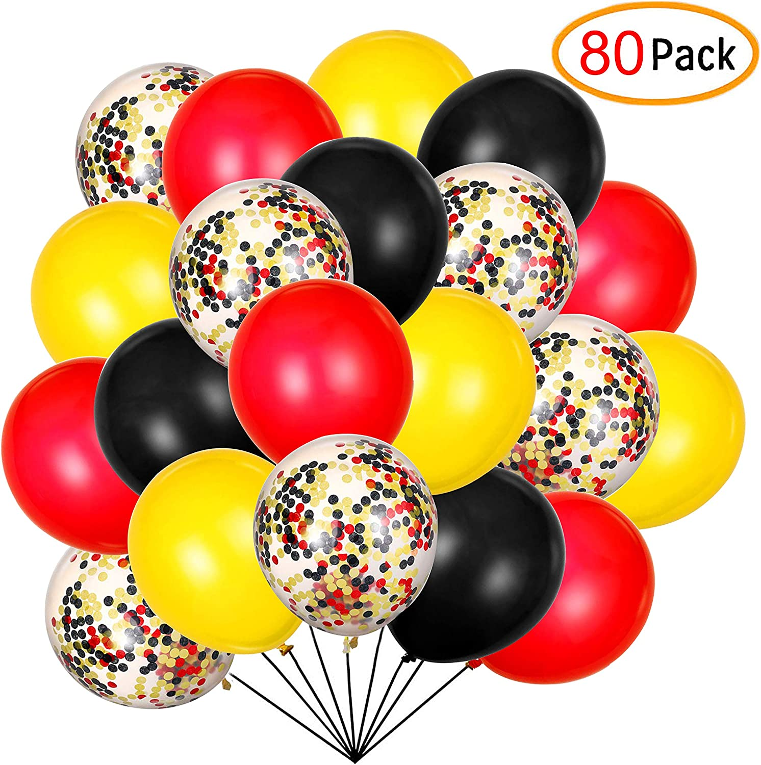 """Black 24  Latex Balloons 12/"""" When Inflated Solid Colors"""
