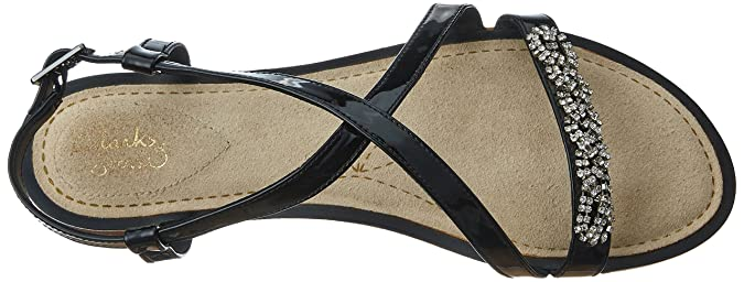 1609da530d9 Clarks Womens Smart Clarks Sail Breeze Synthetic Sandals In Black Patent  Standard Fit Size 4  Amazon.co.uk  Shoes   Bags