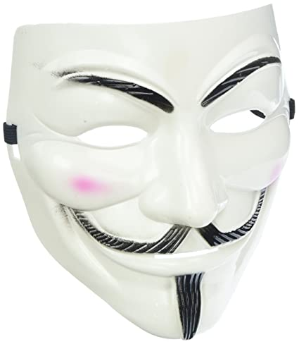 Generic Adorox V for Vendetta White Face Mask Anonymous Guy Fawkes