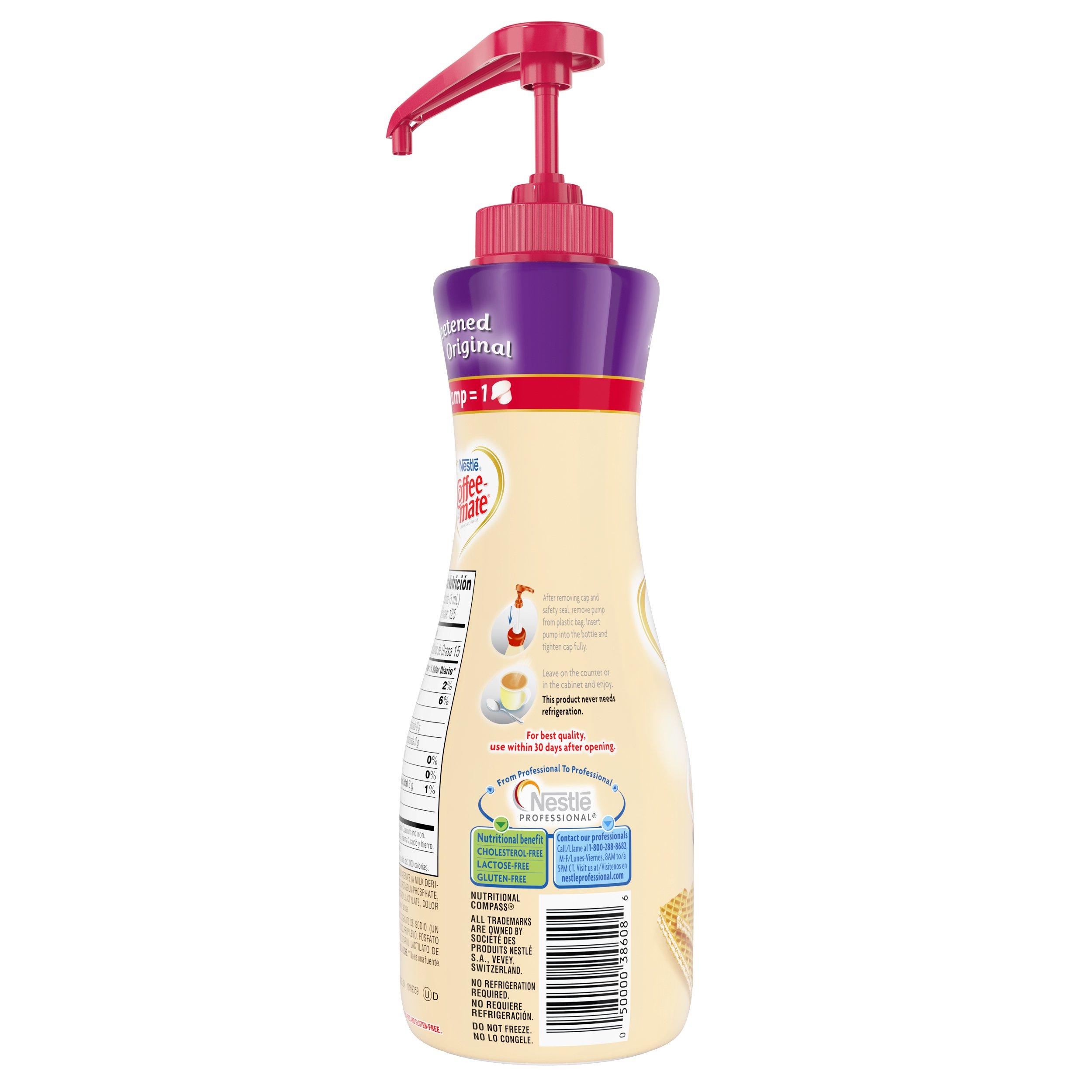 Nestle Coffee-mate Coffee Creamer, Sweetened Original, 21.1 oz liquid pump bottle by Nestle Coffee Mate (Image #5)