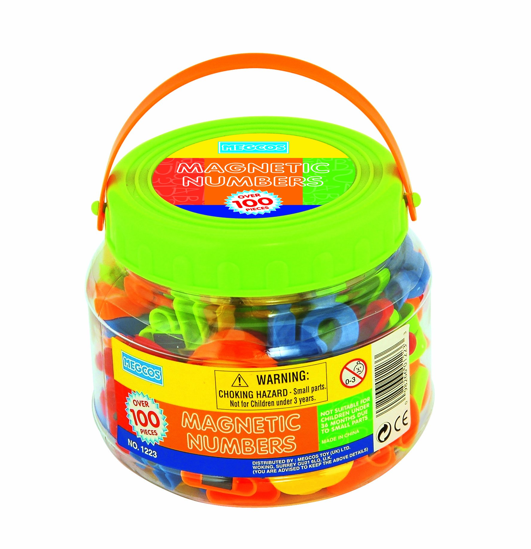 megcos Magnetic Numbers in a Jar, 100-Piece by Megcos