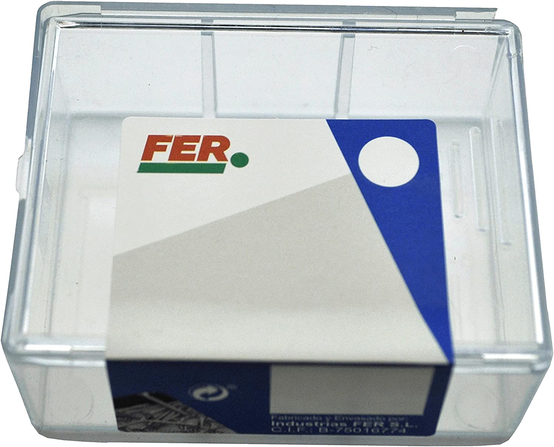 FER 43654 Caja Profesional Pl/ástico Ovalillos 11 mm Latonado