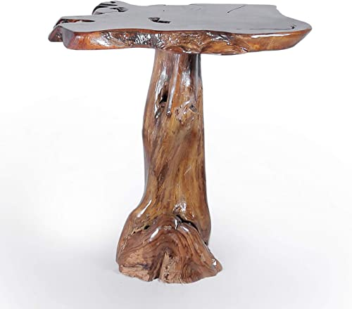 Genuine Teak Wood Slab Bar Table, Rustic and Unique, Made by Chic Teak from Solid A-Grade Teak Wood