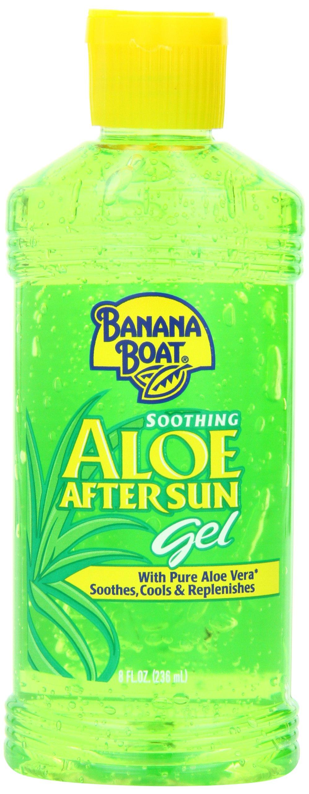 Banana Boat Aloe Vera Sun Burn Relief Sun Care After Sun Gel - 8 Ounce (Pack of 4) by Banana Boat
