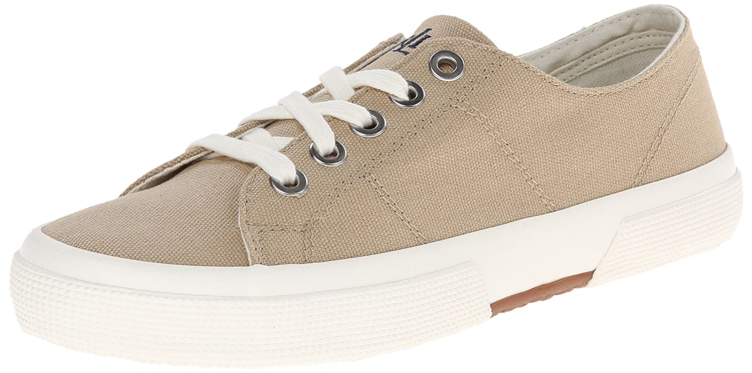 Lauren Ralph Lauren Women's Jolie Fashion Sneaker B00MB1YJ94 5 B(M) US|Khaki Solid Canvas