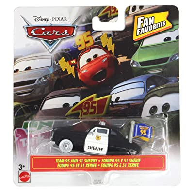 Cars Fan Favorites Team 95 and 51 Sheriff Vehicle: Toys & Games