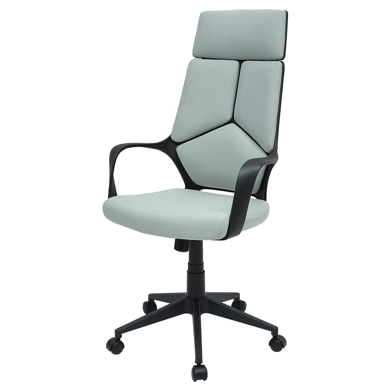 MORE DESIGN Chaise de Bureau, Polypropylène, Gris et Noir, 63 x 63 x 124 cm