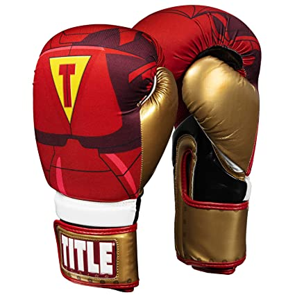 d201e6eb355be Title Boxing Infused Foam Invincible Boxing Gloves, Maroon/Gold, 8 oz