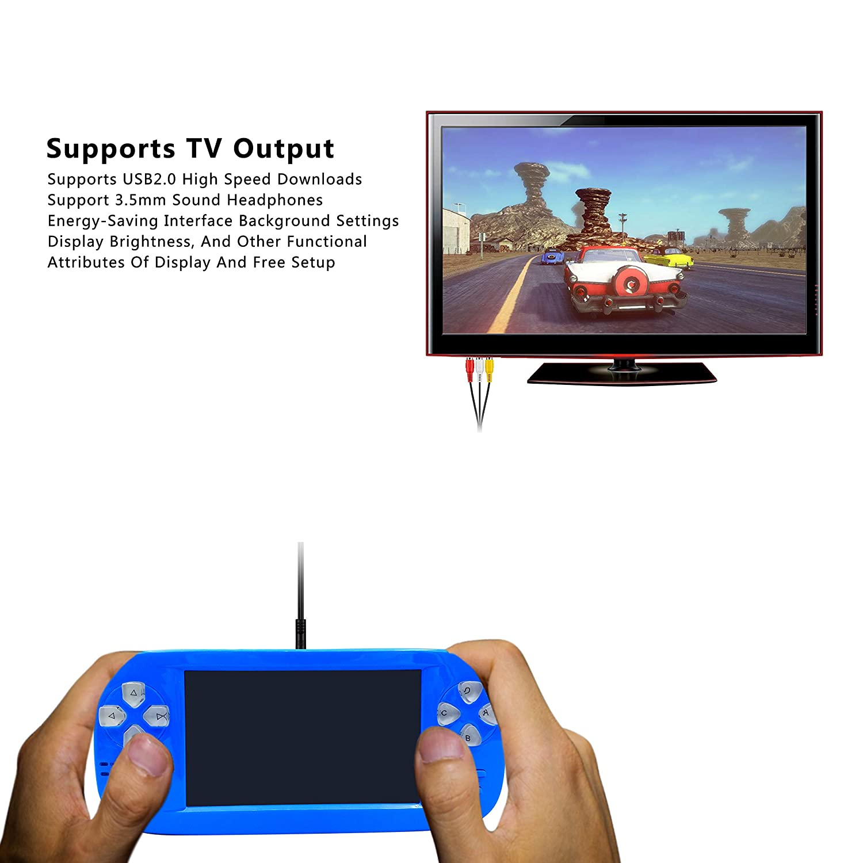 Amazon.es: YLM Consola de Juegos portátil, Videojuego portátil con 3000 Juegos y Salida de TV, cámara, música SQ