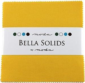 Bella Solids Yellow Moda Charm Pack by Moda Fabrics; 42-5