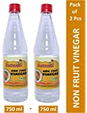 GSA's Chatkara Non Fruit Vinegar for Food, Pantry, Cooking, Onion and Salads, 750ml (White) - Pack of 2