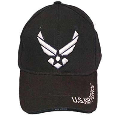 2ec5e44ee13 Image Unavailable. Image not available for. Color  US Air Force Wings Emblem  Baseball Cap Hat (Black)