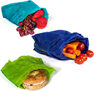 etee Organic Reusable Sandwich Bags are Reusable, Non-Toxic, Biodegradable and Plastic-Free - Say Goodbye to Plastic (3 sandwich bags included)