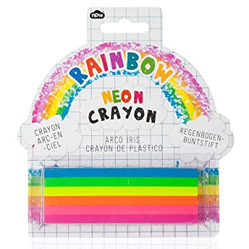 npw extra large colouring crayon 6 in 1 neon rainbow crayon sketch