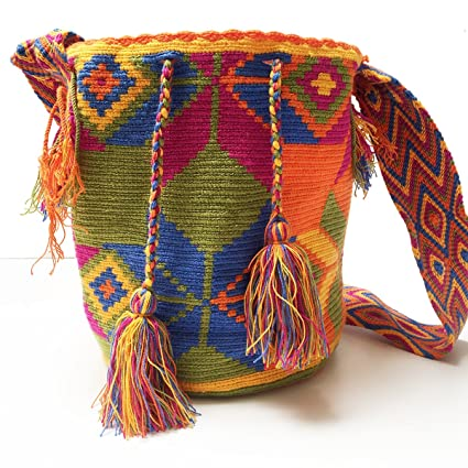 Amazon.com: Wayuu Bag Mochila Hand Woven Multicolor #686: Everything Else