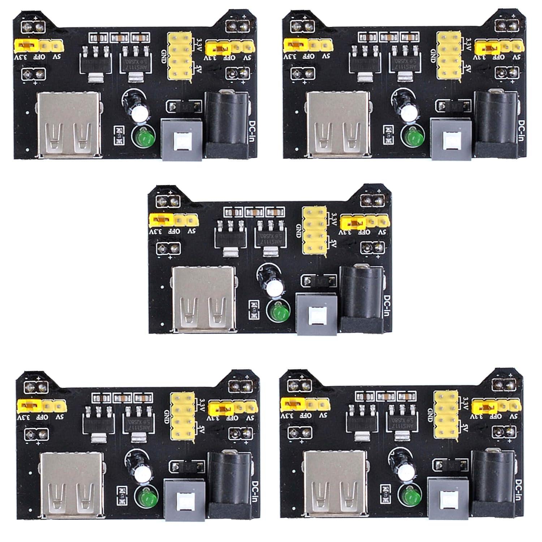 10pcs MB102 Breadboard Power Supply Module 3.3V 5V for Arduino Breadboard