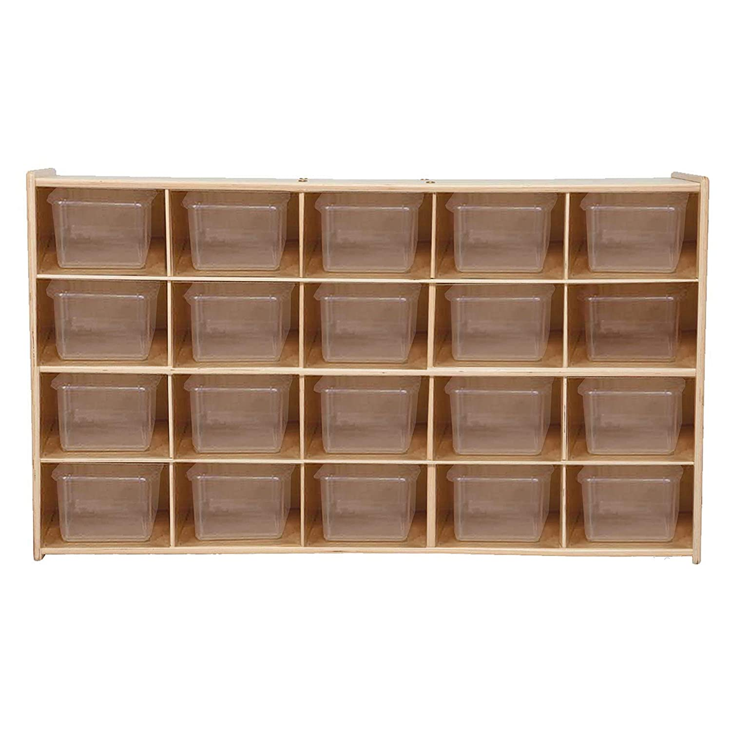 Image of Contender 20 Tray Storage with Translucent Trays - RTA Cubbies