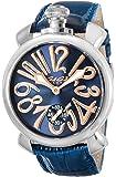 [ガガミラノ]GAGA MILANO 腕時計 ネイビー文字盤 裏蓋スケルトン スイス製 5010.05S-BLU メンズ 【並行輸入品】