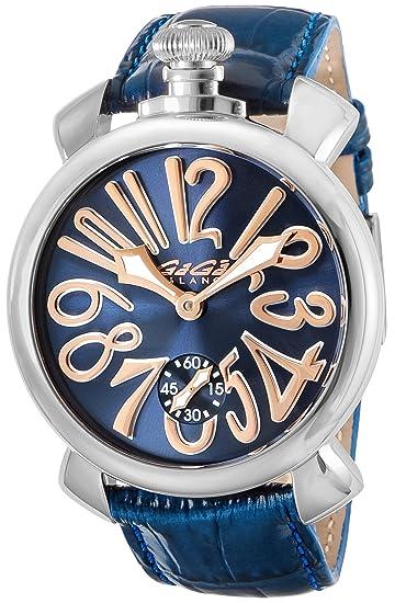 premium selection 493b5 8619a [ガガミラノ] 腕時計 5010.05S-BLU 並行輸入品 ブルー