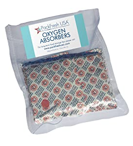 2000cc Oxygen Absorbers for Dehydrated Food and Emergency Long Term Food Storage - 10