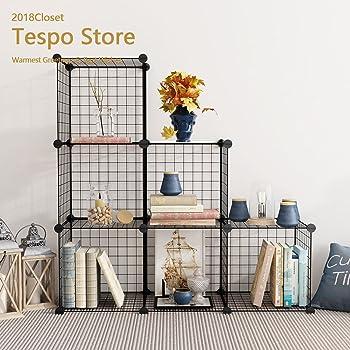 Amazon Com Tespo Wire Storage Cubes Modular Shelving Unit