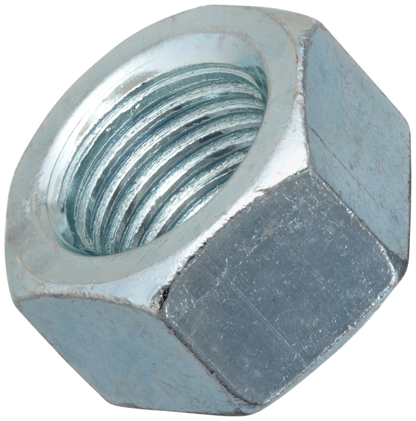 Steel Hex Nut, Zinc Plated Finish, Grade 2, ASME B18.2.2, 3/8''-16 Thread Size, 9/16'' Width Across Flats, 21/64'' Thick (Pack of 100) by Small Parts