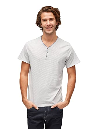 TOM TAILOR für Männer T-Shirts Tops Gestreiftes T-Shirt Soft Light beige 393e392505
