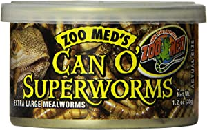 Zoo Med 3 Pack of Can O' SuperWorms, 1.2 Ounces Per Can