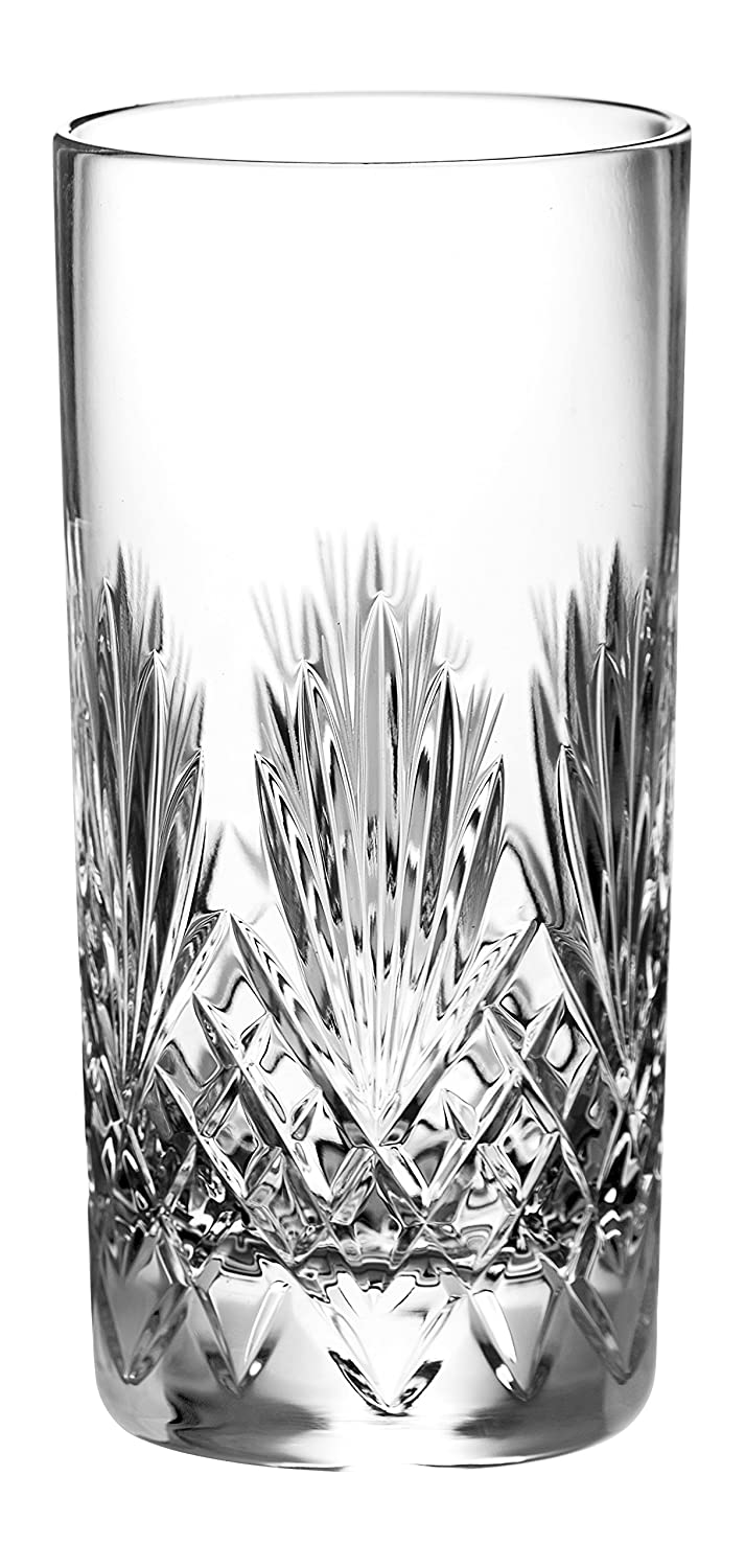 Crystal Mouth Blown Tumblers Barski Hand Cut Set of 4 Hiball - Made in Europe 14oz Set of 4