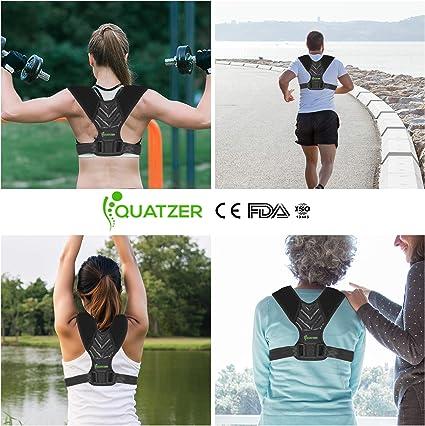 Corrector de postura para espalda Hombre y Mujer - Faja dorsal ...